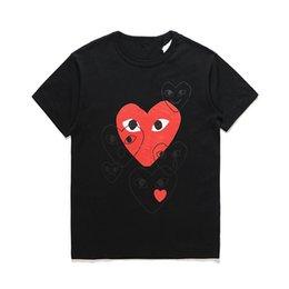 2019 camisas por atacado do às bolinhas 2019 atacado Top Quality Hot coração feriado Emoji japonesa Branco Preto Polka Dots White Heart T-shirt Tamanho Grey S-XL rápida decisão desconto camisas por atacado do às bolinhas