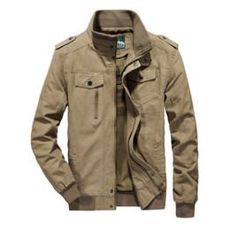 Армейский зеленый военный куртка онлайн-Мода Италия стиль куртка мужчины высокое качество AFS JEEP мужская куртка военная армия зеленый хаки молния мотоцикл куртка пальто мужчины