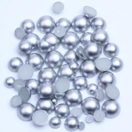 art eine halbe runde perlen abs flatback harz handwerk gemischte größe nail