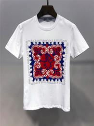 Homens De Algodão Jersey Tripulação Pescoço T-shirt Masculino Manga Curta Streetwear Menino Asa Impressão Clássico Menwear Duas Cores cheap crew neck jerseys de Fornecedores de camisas de pescoço