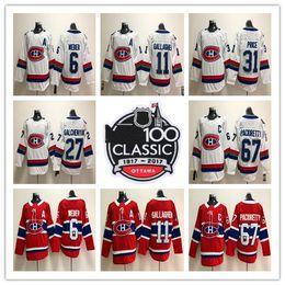 182951888 2018 Montreal Canadiens 100 Classic 31 Carey Price 6 Shea Weber 92 Jonathan  Drouin 67 Max Pacioretty 11 Brendan Gallagher hockey Jersey