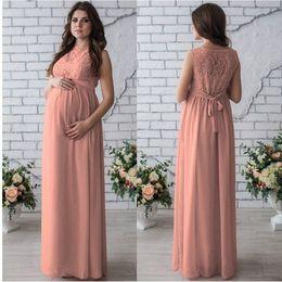 kleid modelle für schwangere frauen Rabatt F08 # Explosion Modelle 2019 Frühling und Sommer schwangere Frauen runde Hals ärmellose Spitze High-End-Kleid