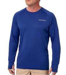 Deutschland 2019 Männer Angeln T-Shirt LS Shirt UPF50 Quick Dry Mann Angeln Bekleidung Sport Outdoor T-Shirt Plus USA Größe M-3XL Rabatt cheap discounted t shirts Versorgung