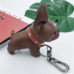 2019 bull terrier geschenke Schlüsselanhänger Welpen Spielzeug Anhänger Designer Hundkeychain neue Art und Weise bull terrier Glück See Tanabata Paar Geschenk Puppe Schlüsselanhänger rabatt bull terrier geschenke