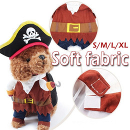 clothing for pirates Coupons - Pet Clothes Cosplay Pirate Dogs Cat Halloween Cute Costume Clothing Comfort For Small Medium Dog 4 Size