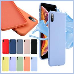 Samsung note estuche original online-Original Funda suave de silicona líquida oficial oficial para iPhone XS Max XR X 8 7 6 Plus Samsung Galaxy S10 E S9 Nota 9 M10 M20 M30 A20 A50 A70