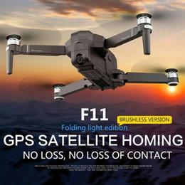Quadcopter gps fpv online-SJRC F11 Pro GPS RC aviones no tripulados 5G Wifi FPV 2K 1080P HD cámara sin escobillas Quadcopter