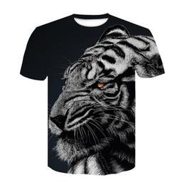 Marche cool tshirt online-Flame Shirt Tiger T-Shirt Anime T Shirt Animal 3d Stampa Tshirt Cool Slim Uomo Maniche corte Mens Marchio di Abbigliamento 2019 Alta Qualità Ypf263