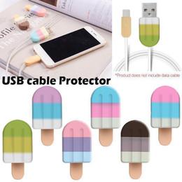 2019 iphone aufladungskabel beschützer Ice Cream Kabelbrücke Silikon-Abdeckung für USB-Datum Charing Kabel-Schnur iPhone 8 7 6s 5 Ladekabel MMA1237-2 günstig iphone aufladungskabel beschützer