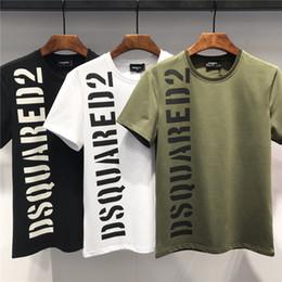 dcea68e1e 19ss Nueva marca de moda Ropa de hombre Camiseta de manga corta Camisetas  casuales Impresión de alta calidad DS2 100% Algodón Tops de impresión  O-cuello ...