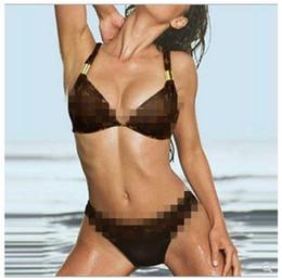 2019 marche della biancheria intima delle signore Designer Sexy Lady Bikini Intimo Lettera di marca Stampato Sexy Set Bikini per donna Costumi da bagno da donna in bikini a due pezzi di lusso sconti marche della biancheria intima delle signore