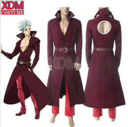 The Seven Deadly Sins Fox's Sin of Coat Pant Outfit Greed Ban Costume cosplay da costume sette fornitori