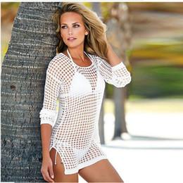 Raodaren 2017 Estate Donna Sexy Maglia Lavorato A Maglia All'uncinetto Beach Tops T-Shirt Swimsuit Cover Up Swimwear Bikini Wrap Costume Da Bagno da