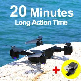 2020 quadcopters rc SMRC S20 Drone com o HD 1080p 4k câmera Quadrocopter pairando Fpv Quadrotor 5MP Folding Rc Helicopter Storage Bag Toy Para Boy T190621 desconto quadcopters rc