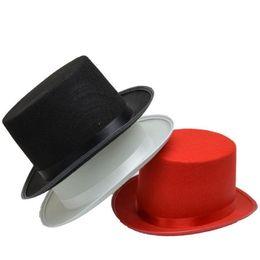 carnaval crianças chapéu Desconto Crianças Adultos Magia Top Hat Mágico Desempenho Show Props Chapéus Bonés de Halloween Carnaval Do Partido Do Vestido Extravagante Decoração
