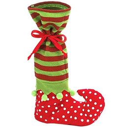 christmas gift boot Coupons - Candy Box Gifts Bags Christmas Stockings Socks Ornament Gift Boots Hanging Christmas Tree Pendant Decoration