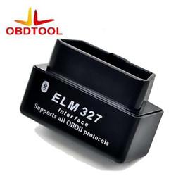 2019 mini interfaz elm327 OBD2 OBD ii Wireless V2.1 Super MINI ELM 327 Bluetooth OBD 2 ELM327 Interface BT para Android Torque / PC Herramienta de diagnóstico mini interfaz elm327 baratos