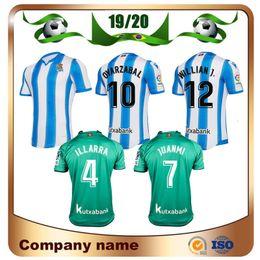 2019 echte uniform 19/20 Real Sociedad Fußball Jersey 2019 Royal Society OYARZABA Fußball Shir tHome X.PRIETO CARLOS JUANMI Fußballuniform Verkauf günstig echte uniform