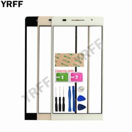 huawei p6 bildschirm Rabatt YRFF 4,7 '' Mobile Touchscreen Außenglas Für HuaWei Ascend P6 Frontscheibe Glas Ersatz