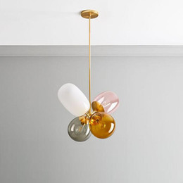 Nordic children s room balloon glass chandelier modern simple personality creativity living room dining room bedroom study Chandelier