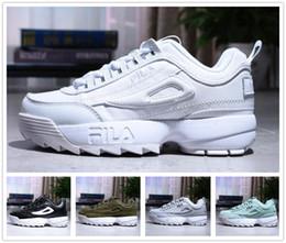 Original FILA Disruptors II 2 Top Disruptors II 2 zapato Mujer hombre scarpe blanco negro gris rosado dama zapatos casual zapatillas deportivas Jogging zapatillas 36-44 EUR desde fabricantes