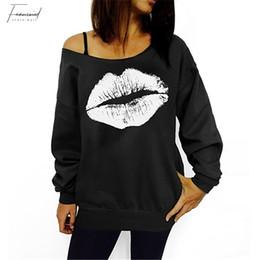 2019 neue Art und Weise Frauen Kleidung Frauen Casual Pullover, reizvolle Lippe Pullover, T Shirts Jacke Drop Shipping