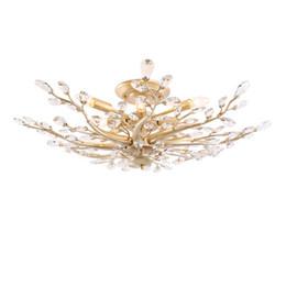 Canada Nouvelle arrivée américaine lustre en cristal lampes pays maison salon lumières restaurant chambre personnalité créative cristal plafonnier Offre