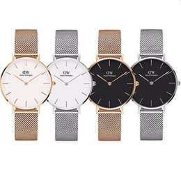 2019 pulsera led rosa Nueva moda para mujer para mujer Daniel Wellington relojes 40mm Relojes para hombre Relojes DW Marca de lujo Reloj de cuarzo Relogio Montre Femme