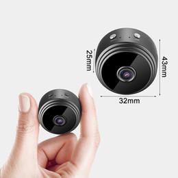 2019 câmeras super pequenas Hot A9 Micro Câmera 4 K HD wi-fi mini câmera super 10 m de visão noturna ultra-pequena câmera do telefone sem fio de monitoramento remoto bateria embutida desconto câmeras super pequenas