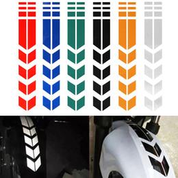 pegatinas rossi Rebajas Motocicletas pegatina reflectante en Fender impermeable de seguridad Advertencia Flecha cinta etiquetas del coche 6colors moto Decoración
