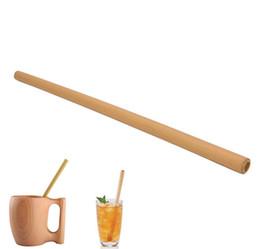 1 Pcs De Bambu orgânico canudo para Festa de Casamento de Aniversário Biodegradável Palhas De Madeira Talheres Frete grátis por atacado de Fornecedores de palhas biodegradáveis por grosso