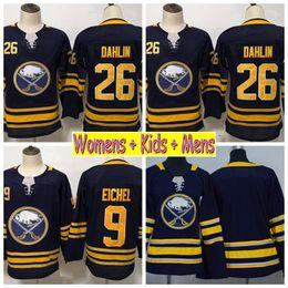 2019 Ladies Buffalo Sabres Hockey Jerseys Girls 9 Jack Eichel 26 Rasmus  Dahlin Home Blue Kids Womens Mens Hockey Stitched Shirts 4c72bd09c