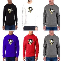 t-shirt pittsburgh  Sconti Nuova stagione Uomo Pittsburgh Penguins Any Name Any Number Rosso Dassler climalite Performance manica lunga raglan hockey T-Shirt