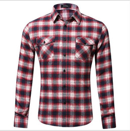 Nouveaux tissus à carreaux en flanelle entièrement en coton d'Amazon pour chemises pour hommes de tailles européenne et américaine avec doubles sacs et housses en 2019 ? partir de fabricateur