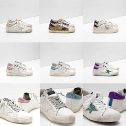 old sneaker brands Coupons - Italy Deluxe Brand White Crystal Sequins Golden Xxs