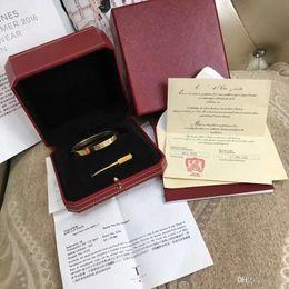 New Love Bracelets Bracelet argent rose or Bracelets Femmes Hommes Tournevis Tournevis Bracelet Couple Bijoux avec Boîte d'origine de haute qualité ? partir de fabricateur