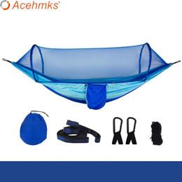 oscillazioni blu Sconti Acehmks Amache per mobili da esterno in tinta blu per altalena per amaca da campeggio portatile per zanzariere per adulti