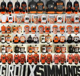 2019 Stadium Series Orange Philadelphia Flyers 28 Claude Giroux 53 Shayne Gostisbehere Nolan Patrick 93 Jakub Voracek 79 Jerseys Carter Hart desde fabricantes