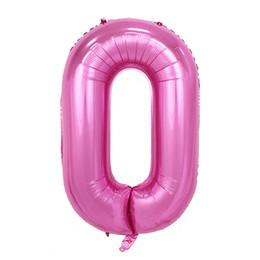 numeri di palloncini rosa Sconti Vendita calda a buon mercato 40 pollici 0-9 palloncini rosa numero Numero compleanno compleanno palloncini Palloncino decorazione stagnola regalo fornitore