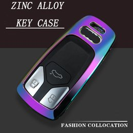 2019 cáscara del caso del mando a distancia nissan 2019 Nueva Moda de Aleación de Zinc Funda de la Llave del Coche Estuche Clave para AUDI A4 B9 Q5 Q7 TT TTS 8S 2016 2017 coche inteligente remoto Coche Styling