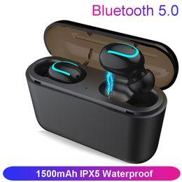 Bluetooth 5.0 Наушники TWS Беспроводные Наушники Blutooth Наушники Гарнитура Handsfree Спортивные Наушники Игровая Гарнитура Телефон PK HBQ от