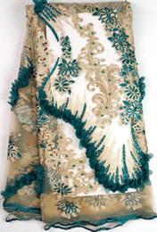 Canada Tissus de dentelle nigérienne de haute qualité 5 mètres de tissu de dentelle française africaine tissu de dentelle africaine pour la robe de mariée tissu africain tulle WH-B14 Offre