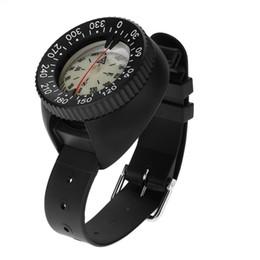 Водонепроницаемые часы под водой онлайн-50 м глубина подводный компас мини водонепроницаемый спелеология кемпинг охота компас часы с браслетом открытый инструменты