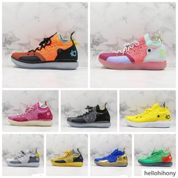 kd oro bianco Sconti KD 11 EP Elite Basketball Shoes KD 11S Oreo oro bianco Ice Blue Multicolor Peach Jam Mens Trainers Kevin Durant All-Star BHM Sneakers