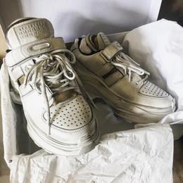 Canada SIN 2019 Top Marque de Styliste Marque Italie Rétro Coupe Déconstruite Bas Sneaker Chaussure De Luxe Homme Et Femme Casual Chaussure Fusion Blanc Offre