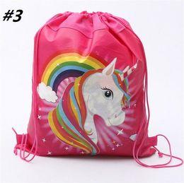 Unicornio Mochila Con Cordón Niñas Princesa Kids Fiesta Temática Mochila Bolsos de Caramelos Mochila Escolar Bolsas de Almacenamiento desde fabricantes