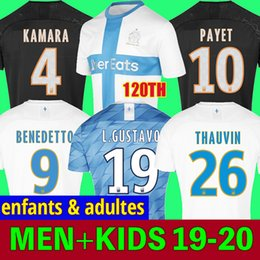 marseille soccer jersey Coupons - adult and kids 19 20 Olympique De Marseille soccer jersey 2019 2020 Marseille maillot de foot BENEDETTO Camisetas THAUVIN football shirt