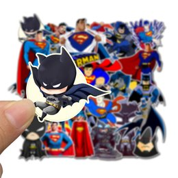 etiquetas da motocicleta do batman Desconto 45 pcs adesivos de carro super hero dc batman superman para laptop skate pad bicicleta motocicleta ps4 telefone bagagem decalque pvc guitarra adesivos