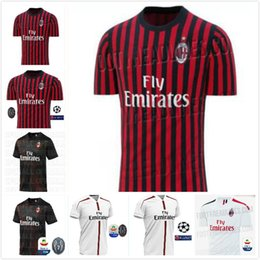 7d2423ae5c8 Discount ac milan jersey black - AC Milan soccer jerseys 2019 2020 Piatek  BACCA PAQUETA BONUCCI