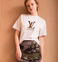 2019 diseño de la camiseta Algodón de calidad superior letras de moda imprimir camiseta de las mujeres ocasional del o-cuello camiseta de las mujeres nuevo diseño mujer camisetas mujer diseño de la camiseta baratos
